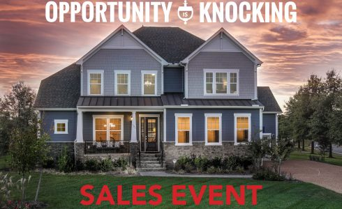 "Promotional flyer which reads, ""Opportunity is knocking sales event."""