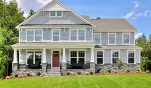 HHHunt Homes two-story luxury home in NewMarket at RounTrey.