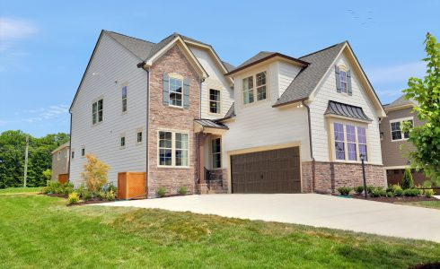 HHHunt Homes Windsor model two story home with two car garage in Deep Run School District.