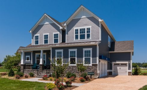 HHHunt Homes Bradenton model two-story home in Smithfield, Virginia.