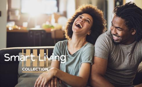 Smart Living Collection Image woman man on sofa