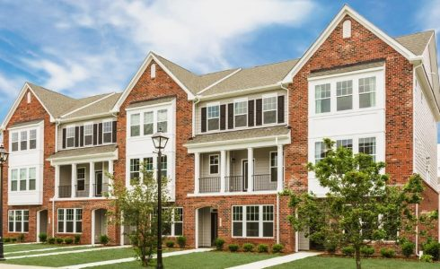 Patrick Henry Place Townhomes brick front