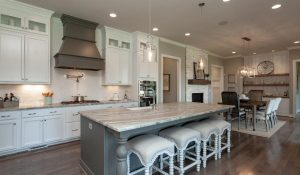 Banks Pointe kitchen white granite counter tops