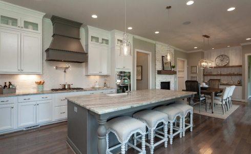 Banks Pointe kitchen white granite counter tops