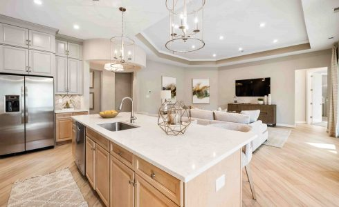 Open Concept Kitchen at Twin Rivers