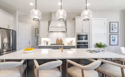 Kitchen of the Oasis Model Home at Enclave at Leesville